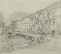 Park w Ojcowie, 1853 r.