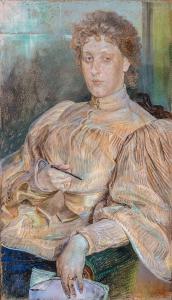 Portret p. Malczewskiej, 1896 r.