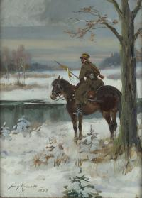 Ułan na patrolu, 1933 r.