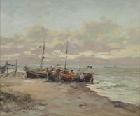 Łodzie na brzegu, 1977 r.