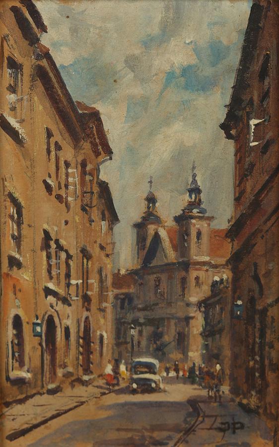 Warszawa, ul. Mostowa, ul. Freta, Kamienne schodki, 1959 r.