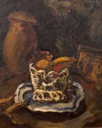 Martwa natura z dzbanem i koszykiem owoców, 1928