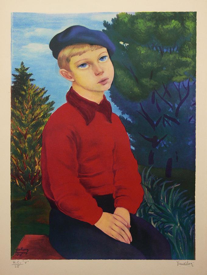 Chłopiec w niebieskim berecie, 1948 r.