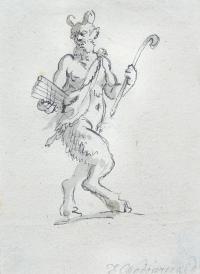 Satyr z fletnią