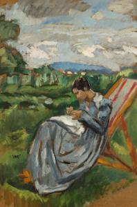 Na leżaku (portret żony artysty Ireny), ok. 1915 r.