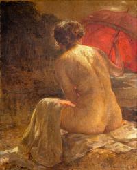 Czerwona parasolka, 1918 r.
