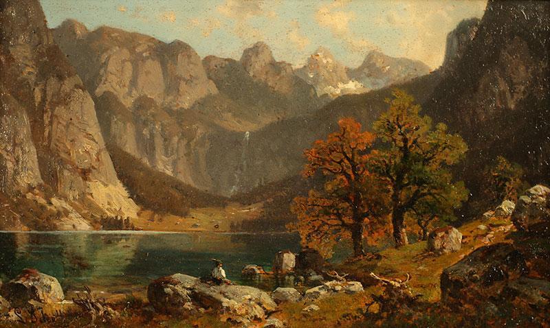 Jezioro w Alpach