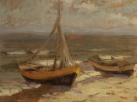Łodzie na brzegu