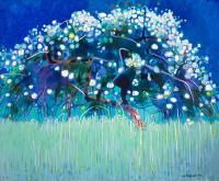 Kwitnąca jabłoń, 1990