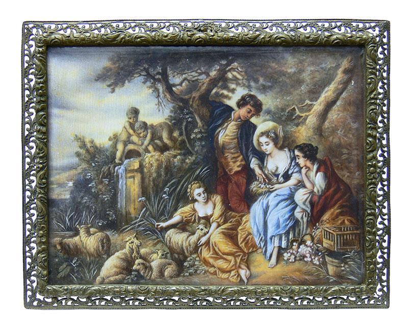 Miniatura - scenka pastoralna