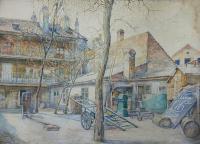 Krakowskie podwórze, 1921 r.