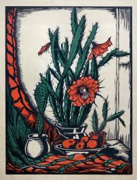 Martwa natura z kaktusem