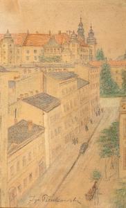 Widok na Wawel z Grodzkiej
