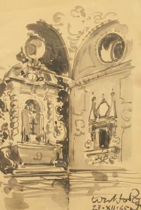 Wnętrze kościoła, 1965 r.