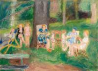 Pani Hayden w parku, 1946 r. (?)
