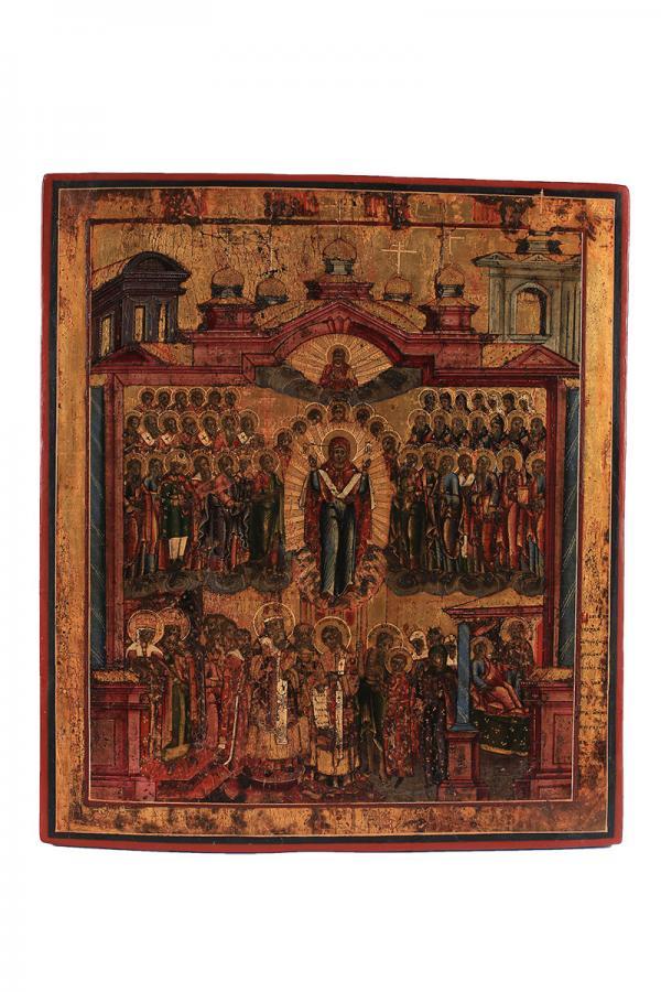 Ikona sceny z życia Marii, Rosja, poł. XIX w.