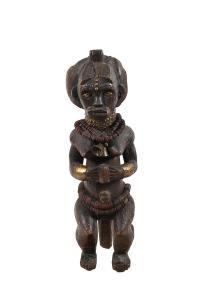Figura Bieri, Gabon, grupa etniczna Fang, 1920-30, naszyjnik lata 50.