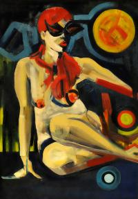 Lady with eggs, 2017