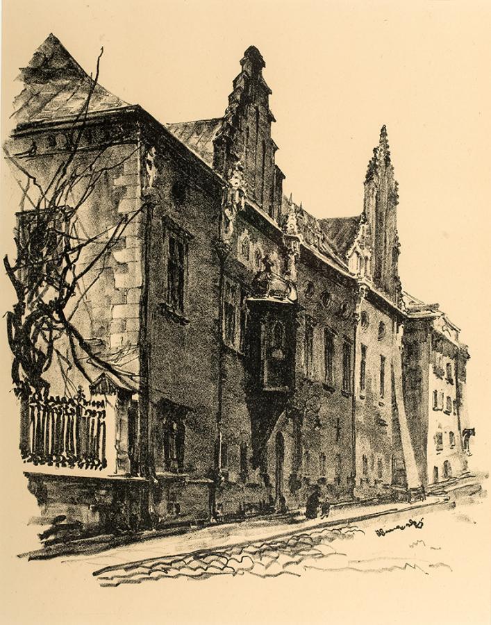 Biblioteka Jagiellońska, z teki Widoki Krakowa, 1926 r.