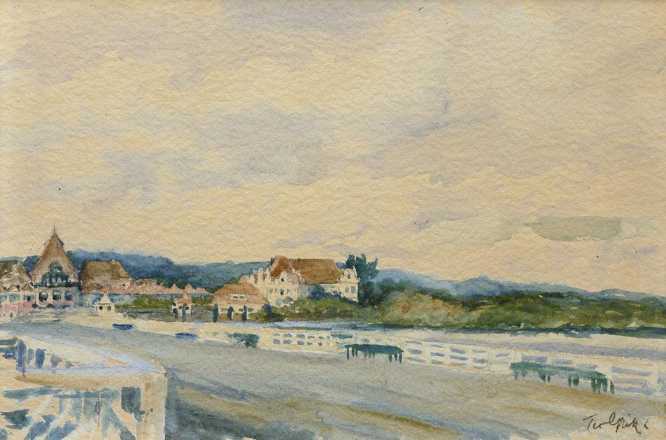 Widok na Sopot od strony mola przed 1927 r.