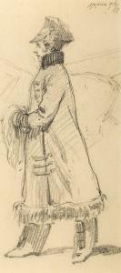 Kobieta w zimowym płaszczu, 1916 r.