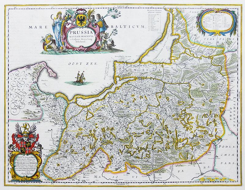 Prussia Accurate Descriptia a Gasparo Henneberg Erlichensi