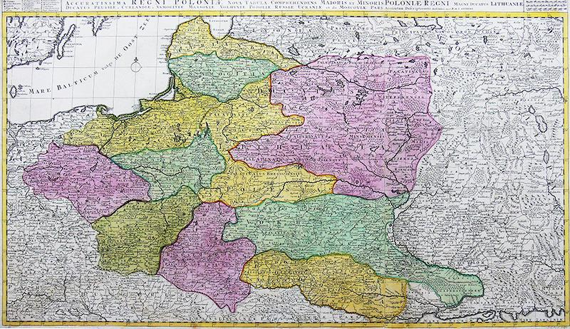 Reipublicae et Status Generalis Poloniae Nova Tabula Comprehendens…