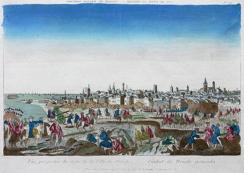 Vue perspective du Siege de la Ville de Dresde