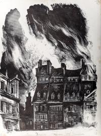 Ogień na warszawskim rynku, ok. 1958