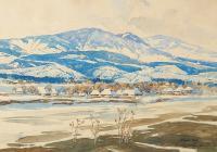 Pejzaż górski - Kosów, 1928 r.