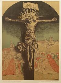 Krucyfiks królowej Jadwigi z katedry na Wawelu, 1915 r.
