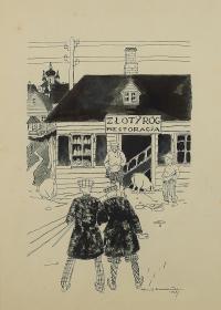 Lwowskie batiary przy Złotym Rogu, 1928 r.