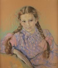 Dziewczynka z warkoczami, 1943 r.