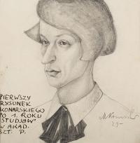 Autoportret po I roku studiów, 1929 r.