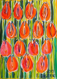 Pomarańczowe tulipany, 2017