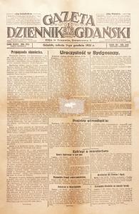 Gazeta Dziennik Gdański, Gdańsk, 3 grudnia 1921 r.