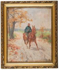 Ułan na koniu, 1927 r.
