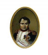 Miniatura z portretem Napoleona
