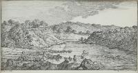 Para akwafort: Łowienie ryb, Kąpiel w rzece, 1838 r.