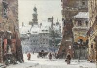 Widok na Stare Miasto w Warszawie