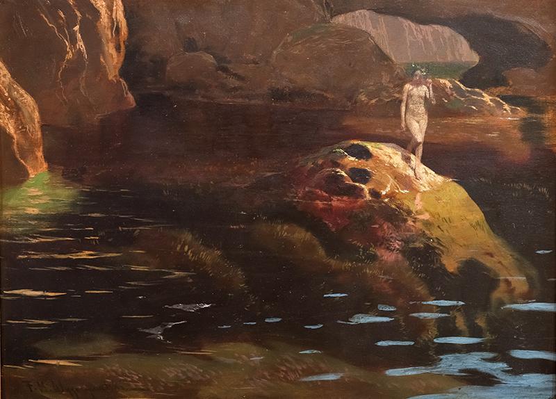Nimfa na skałach morskich