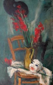 Kwiaty i maska