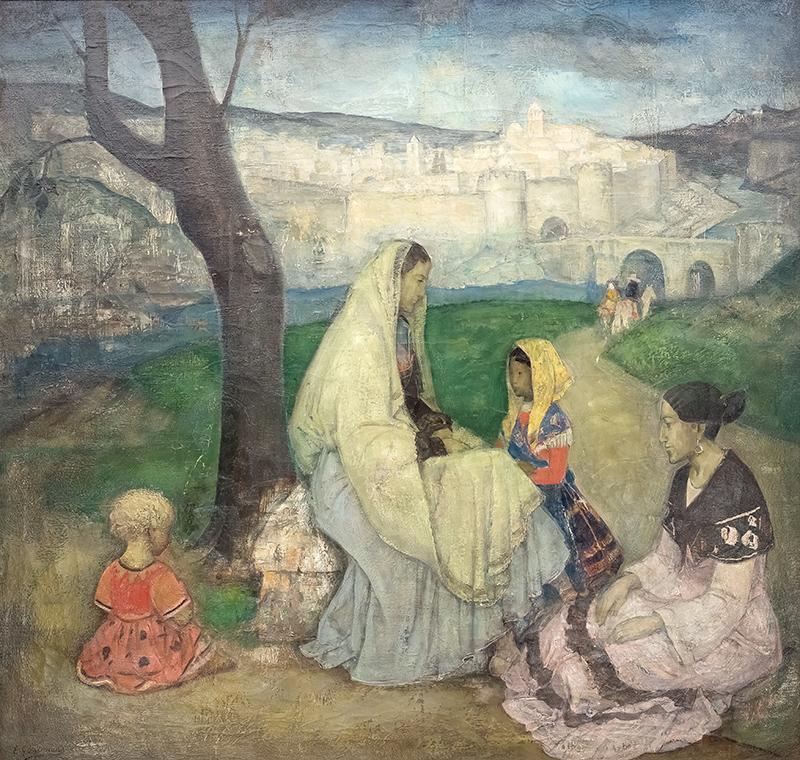 Hiszpańska rodzina pod Avilą