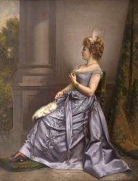 Dama w błękitnej sukni, 1891 r.