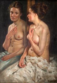 Portret Elisabeth z lustrem