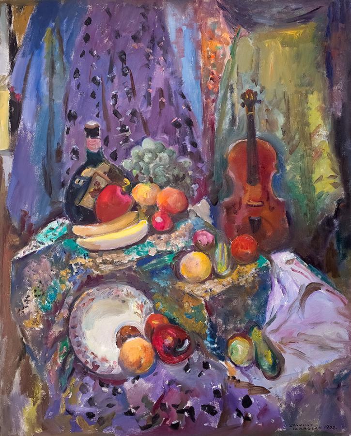 Skrzypce i owoce, 1992 r.