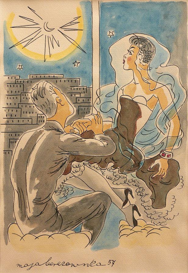 Zaloty w świetle księżyca, 1957 r.