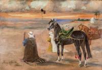 Modlitwa Beduinów na pustyni, 1942 r.