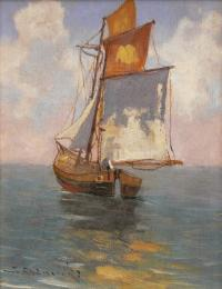 Żaglówka na morzu