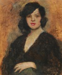 Portret kobiety w czarnej sukni